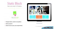 Block static module prestashop creater