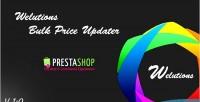 Bulk welutions price prestashop for updater
