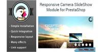 Camera responsive slider prestashop images for module