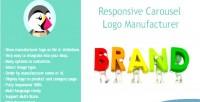 Carousel responsive logo manufacturer