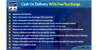 Cash on delivery with module surcharge fee cash