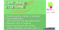 Catalog export format csv in