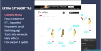 Category extra tabs module prestashop responsive