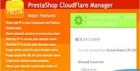Cloudflare prestashop manager