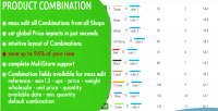 Combination manage prices stock & custom fields of pre in combinations combination