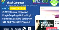Composer visual page prestashop for builder
