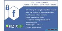 Connect facebook for button login prestashop
