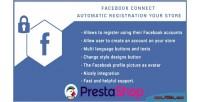 Connect facebook for prestashop button login