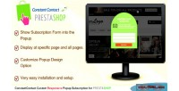 Constant prestashop contact subscription