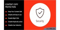 Copy content protection right no prestashop for click