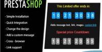 Countdown prestashop module timer discount