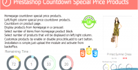 Countdown prestashop special module products price
