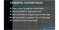 Custom powerful fields user for order & registration