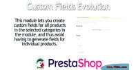 Custom prestashop fields