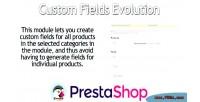 Custom prestashop fields