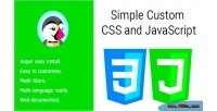 Custom simple javascript & css