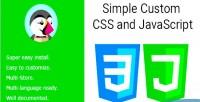 Custom simple javascript & css
