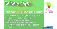Days delivery for prestashop
