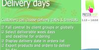 Days delivery for prestashop