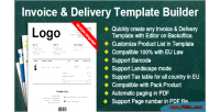 Delivery invoice template number builder custom with