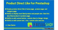 Direct product prestashop for like