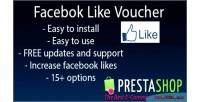 Facebook prestashop like voucher