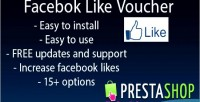 Facebook prestashop like voucher