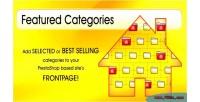 Featured responsive categories module