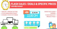 Flash sales deal specific prestashop for prices