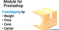 Freeshipping setup your free shipping by weight price zone & carrier