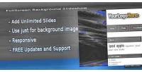 Fullscreen prestashop background slideshow