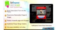 Getresponse prestashop subscription