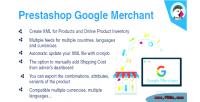 Google prestashop merchant module shopping google