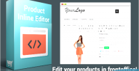 Inline product editor