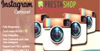 Instagram responsive prestashop for carousel