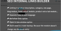 Internal seo links builder
