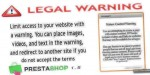 Legalwarning prestashop module