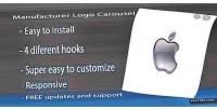 Logo manufacturer responsive carousel