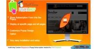 Mailchimp prestashop subscription