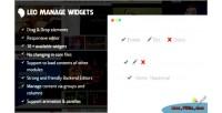 Manage leo widgets