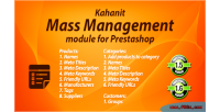 Management mass prestashop kahanit by module