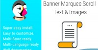 Marquee banner images text scroll