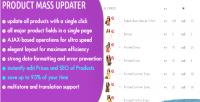 Mass updater bulk edit product fields in an prestashop for instant mass