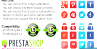 Media social icons & buttons