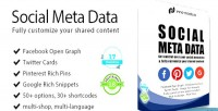 Meta social prestashop for data