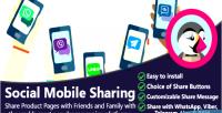 Mobile social sharing