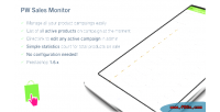 Monitor sales for prestashop