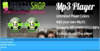 Mp3 prestashop player