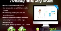 Music prestashop shop module