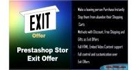Offer exit for prestashop